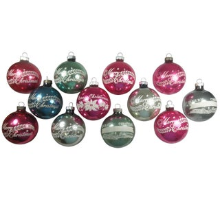 Merry Christmas Stencil Ornaments - Set of 12