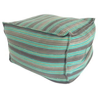 Turquoise Square Ottoman