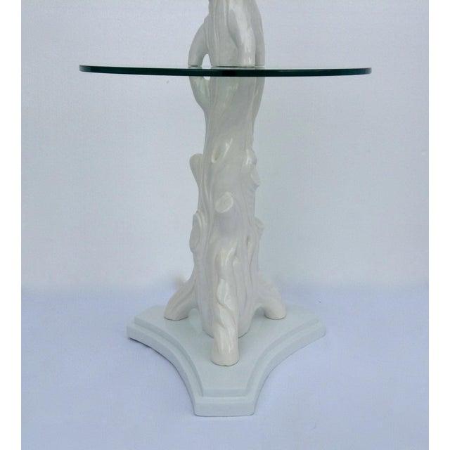 Mid-Century Porcelain Faux-Bois Floor Lamp - Image 4 of 11