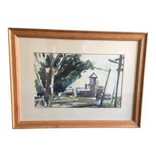 1934 Elanor Torry West Watercolor Framed