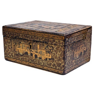 19th Century Antique Chinoiserie Humidor Box