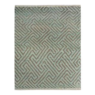 "Moroccan Arya Jerrold Gray/Green Wool Rug - 8'4"" X 10'4"""