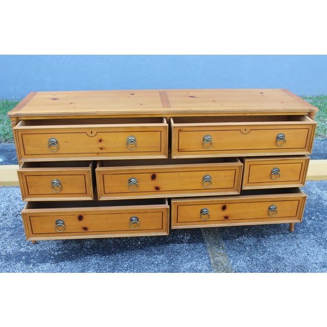 Mid-Century Faux Bamboo Dresser by Baker - Image 10 of 11