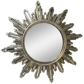 Glam Silver Star Burst Mirror