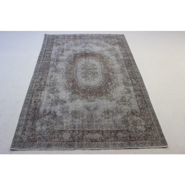 "Gray Turkish Overdyed Rug - 5'7"" X 9'5"" - Image 2 of 9"