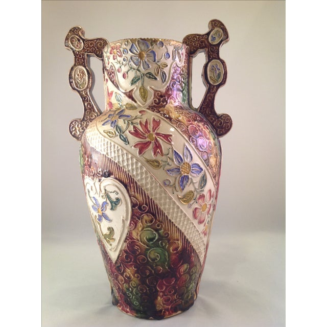 English Victorian Majolica Vase - Image 2 of 5