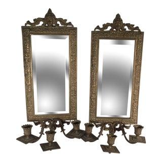 Victorian Mirror Sconces - A Pair