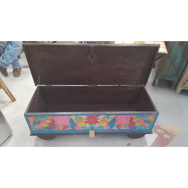 Colorful Wooden Chest - Image 3 of 4