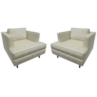 Tufted Seat Club Chairs - A Pair