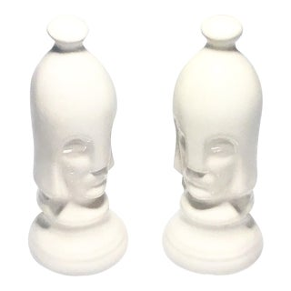 Mid-Century Porcelain Guards - A Pair
