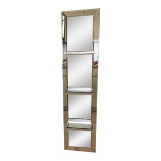 Modern Mirrored Shelf Unit