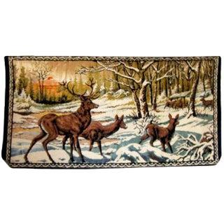 Vintage Italian Deer Tapestry