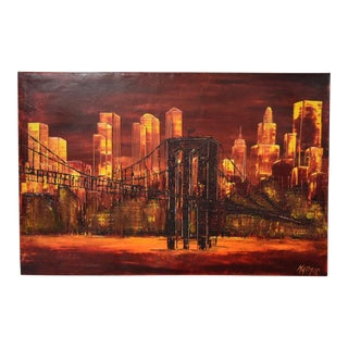 New York City Impressionist Oil Painting