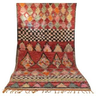 "Vintage Moroccan Azilal Wool Rug - 10'8"" X 5'7"""