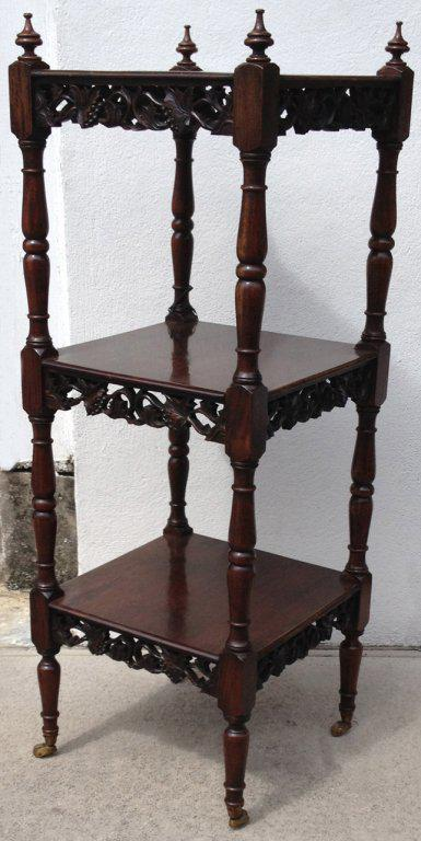 Early 19th C British Colonial East Indies Mahogany Whatnot   Image 2 Of 8