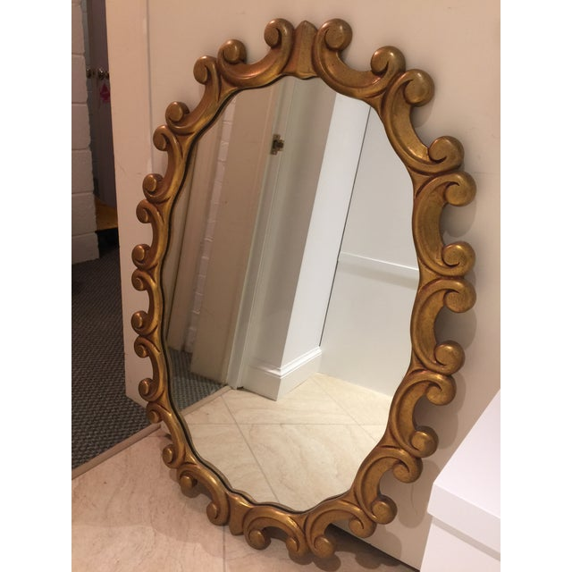 Image of Oval Gold Scroll Mirror
