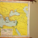 Image of Denoyer-Geppert Vintage Greek & Phoenician Map