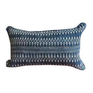 Indigo Batik Hmong Textile Pillow