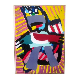 "Karel Appel ""Blue Boy"" Litho Serigraph Print"