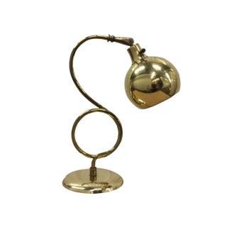 1960s Modern Brass Italian Desk Lamp