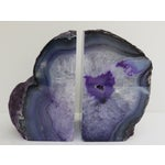 Image of Purple & Gray Geode Bookends - Pair