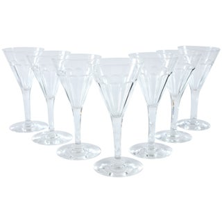 Petite French Sherry Glasses - Set of 7