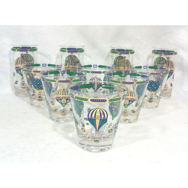Image of Gilt Bohemian Balloon Bar Glasses - Set of 10