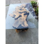 Image of Vintage Buckeye Burlwood Coffee Table