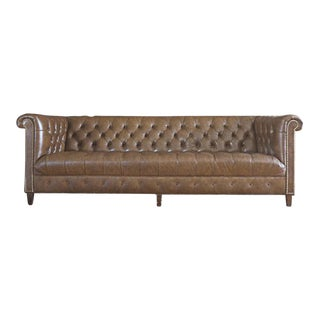 Schafer Bros Leather Chesterfield Tufted Sofa