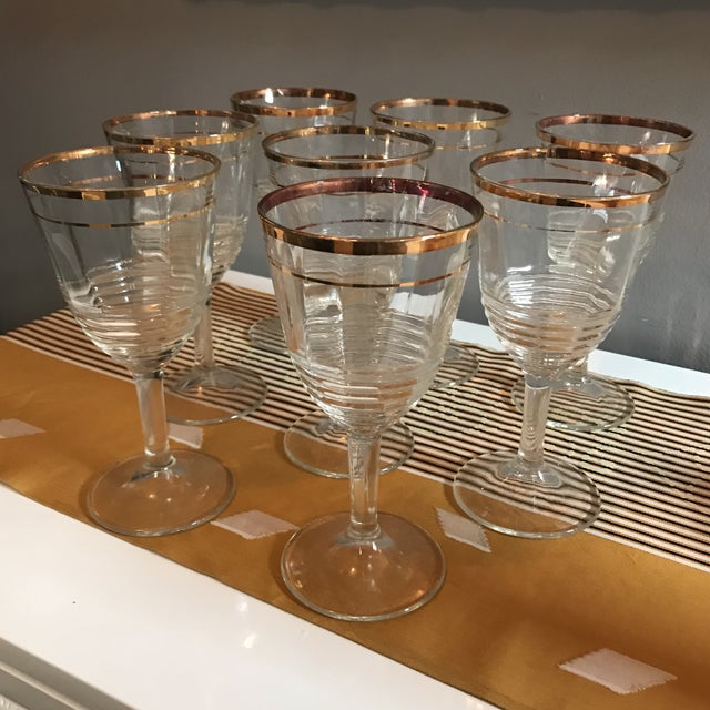 Image of Gold Rimmed Glasses - Set of 8