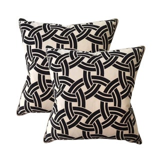 Black & White Indoor or Outdoor Pillows - A Pair