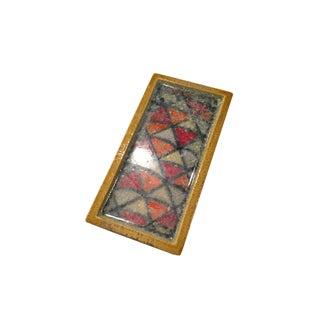 Bitossi Ceramic Box with Fused Glass