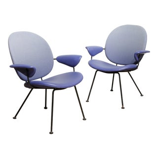 W.H. Gispen for Kembo Easy Chairs - A Pair