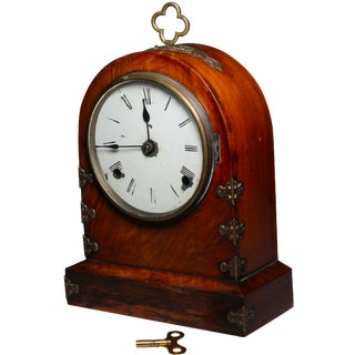 Late 19th Century Rosewood & Walnut Mantle Clock