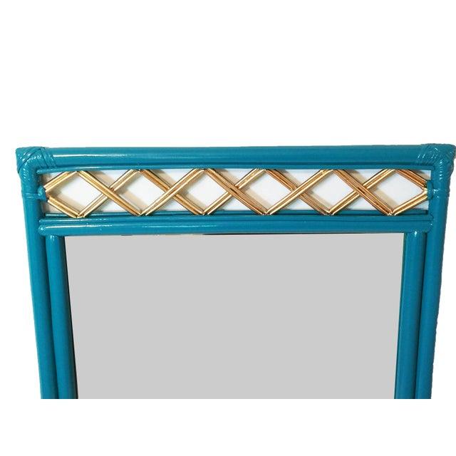 Image of Vintage Ficks Reed Rattan Mirror