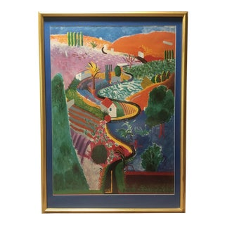 David Hockney Framed Nichols Canyon Print