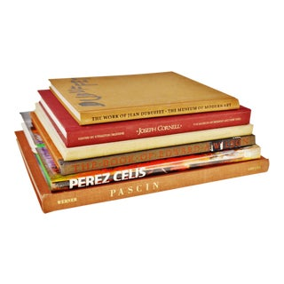 Vintage Artist Coffee Table Books Perez Celis Signature - Set of 6