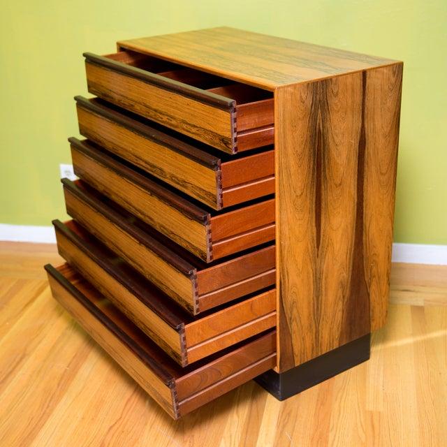 Mid Century Westnofa Rosewood Highboy Dresser - Image 3 of 11