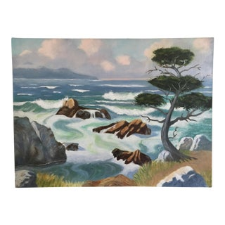 Vintage The Bay Oil Painting