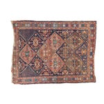 """Image of Antique Distressed Afshar Square Rug - 4'4"""" X 5'7"""""""