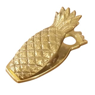 Hollywood Regency Brass Pineapple Paperclip