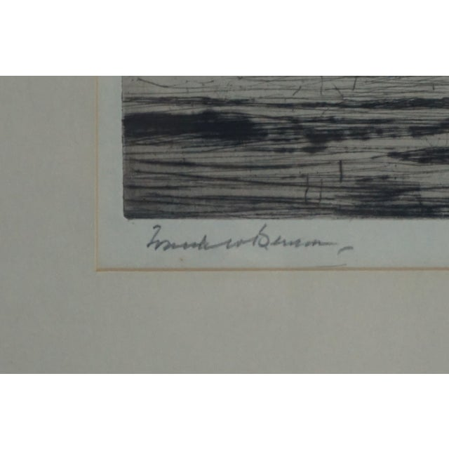 Image of Frank Benson Weston Etching Black Ducks Towering