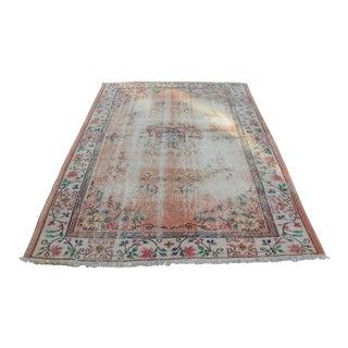 Oushak Floor Vintage Pink Rug - 5′11″ × 8′6″