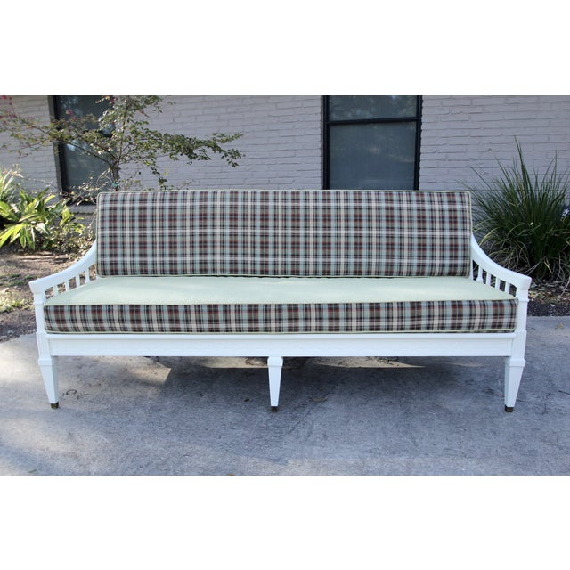 Mid-Century Traditional Plaid Sofa - Image 2 of 5