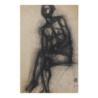 1940 Charcoal Drawing by Richard Hackett