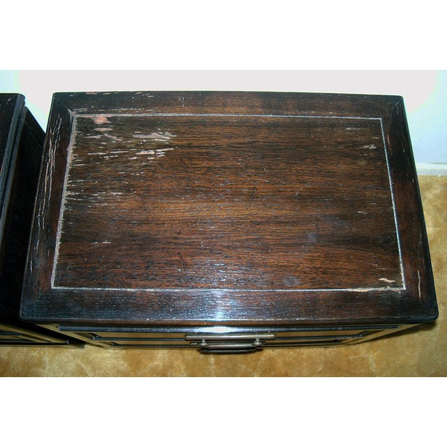 Image of American of Martinsville Brown End Tables - A Pair