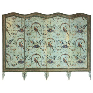 A French Neoclassical Four-Panel Wallpaper Screen