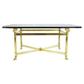 Regency Style Brass Coffee Table