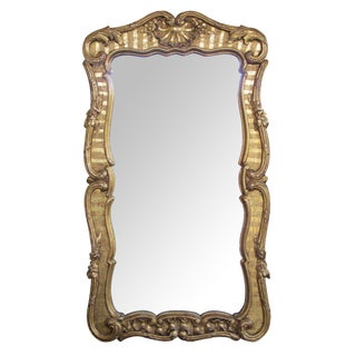 Well-Carved & Good Quality English George II Baroque Style Giltwood Mirror