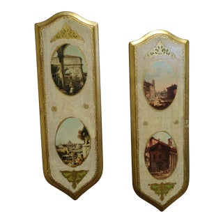 Florentine Wall Plaques Italy - A Pair